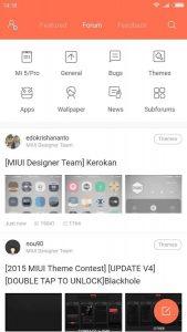Aplikace Xiaomi MIUI Forum