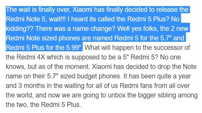 Podle moderátora MIUI Xiaomi Redmi Note 5 nebude