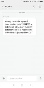 Aplikace pro správu SMS