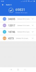 Měření benchmarkem AnTuTu 2