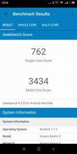 Měření benchmarkem GeekBench 2