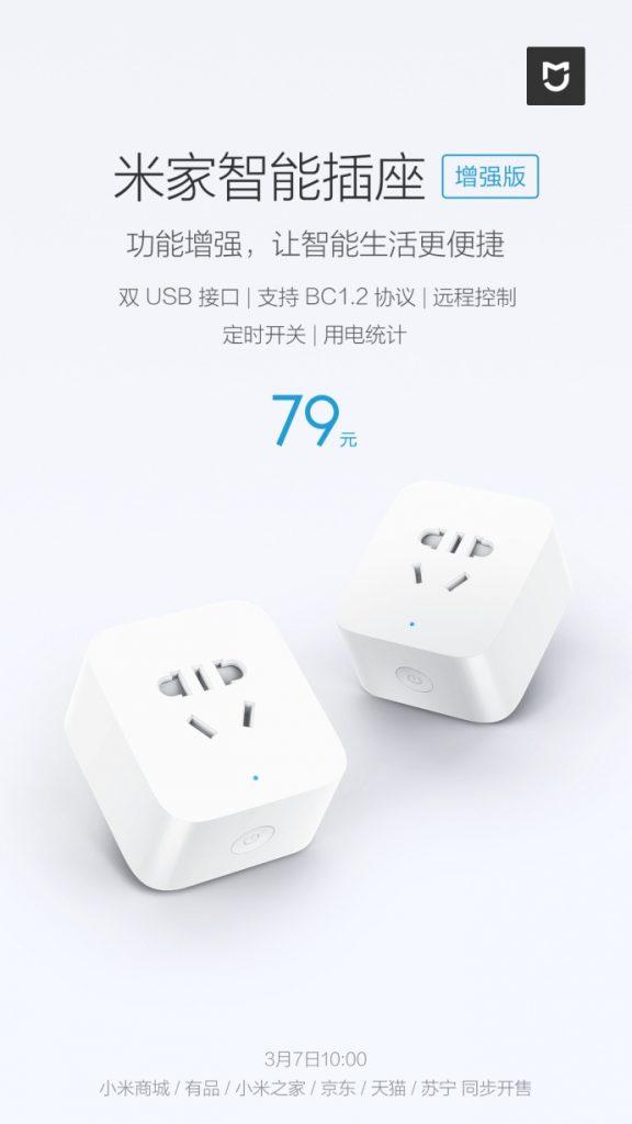 Xiaomi Mi Smart Socket Enhanced Edition stojí asi 260 Kč