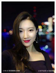 Ukázková selfie z telefonu Xiaomi Mi 6X