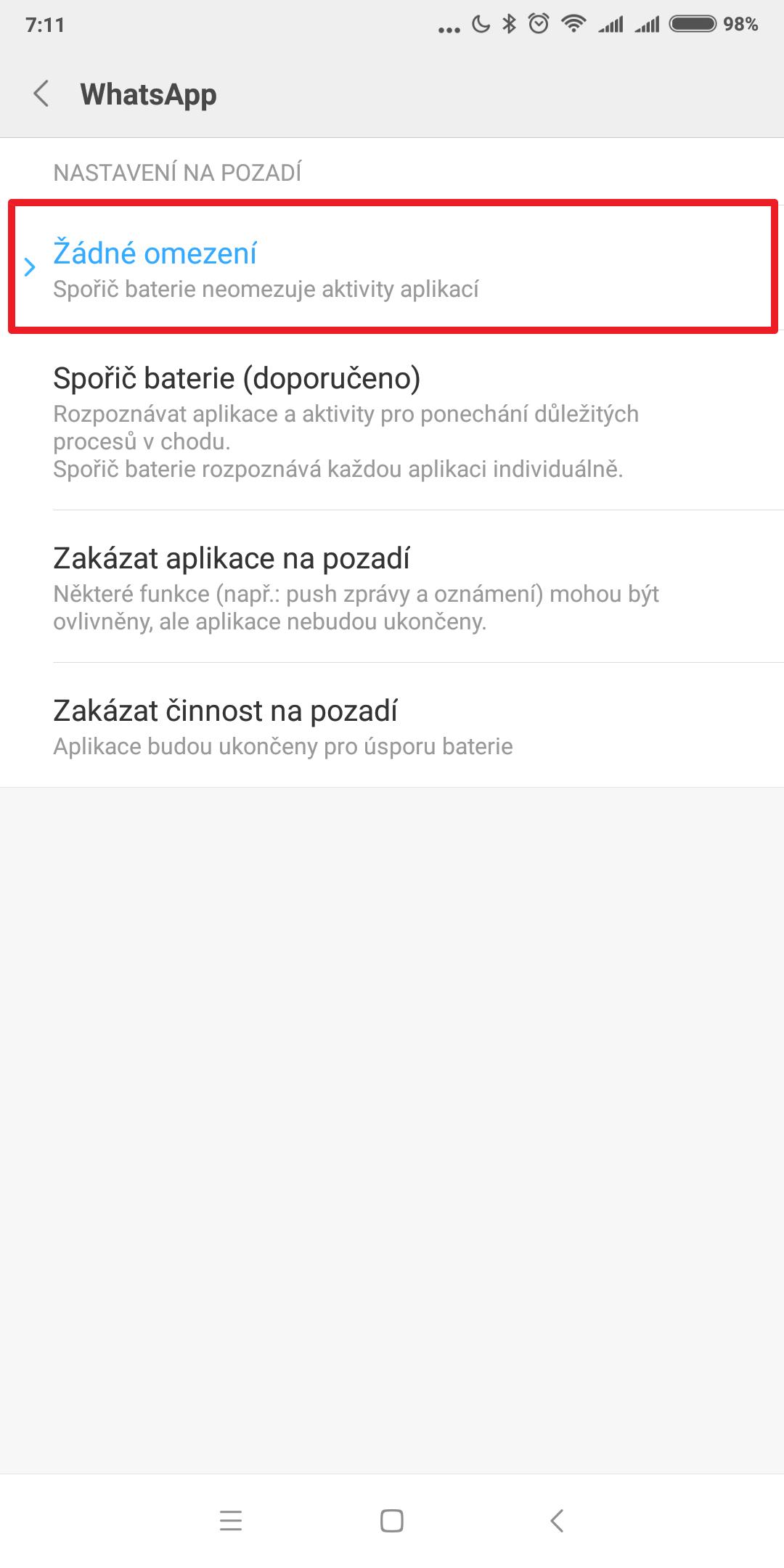 Konečná aplikace pro připojení