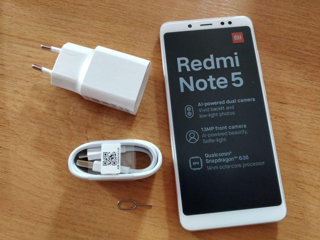 Kompletní balení Xiaomi Redmi Note 5