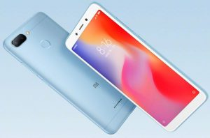 Xiaomi Redmi 6 v modré