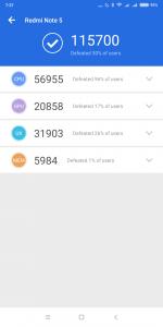 Xiaomi Redmi Note 5 v AnTuTu 1