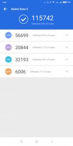 Xiaomi Redmi Note 5 v AnTuTu 2