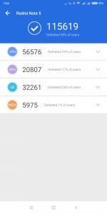 Xiaomi Redmi Note 5 v AnTuTu 3
