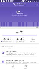 Aplikace Mi Fit vyhodnotí váš spánek