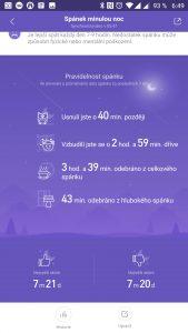 Hodnocení vašeho spánku