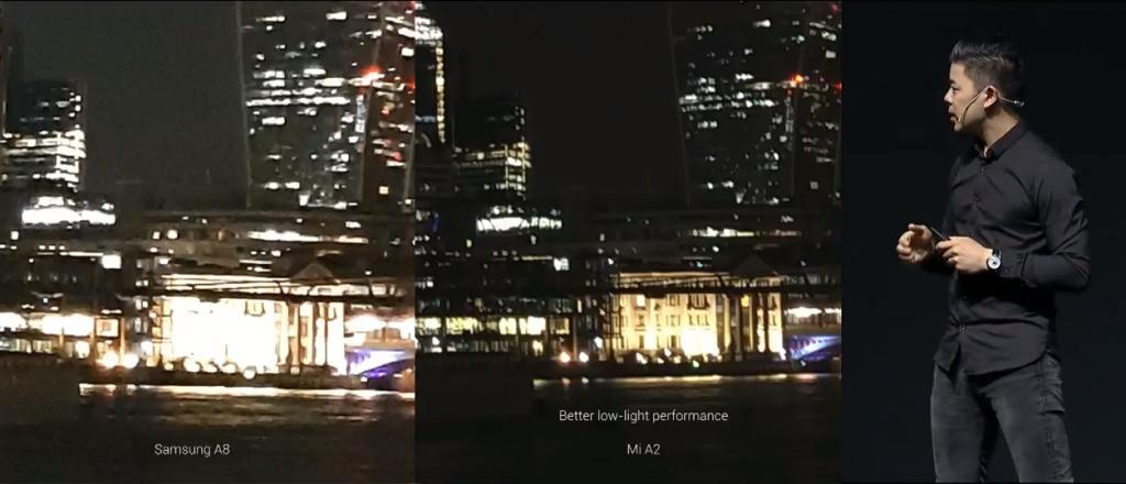 Mi A2 vynikne při focení ve zhoršených světelných podmínkách