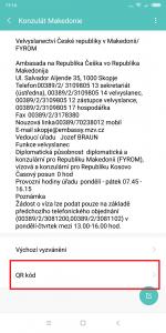 Otevřete položku QR kód