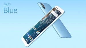 Telefon Xiaomi Mi A2 v modré barvě