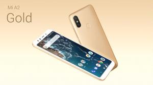 Telefon Xiaomi Mi A2 ve zlaté barvě