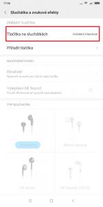 Tlačítka na sluchátkách