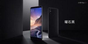 Xiaomi Mi Max 3 v černé