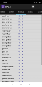 Údaje o teplotách
