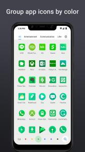 Filtrování aplikací v seznamu podle barvy ikony