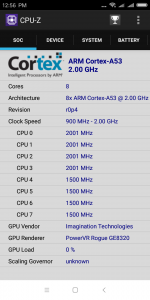 Informace z aplikace CPU-Z - procesor