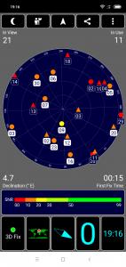 Aplikace GPS Test