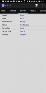 CPU-Z informace o baterii