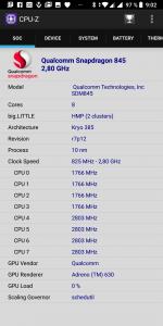 CPU-Z informace o procesoru