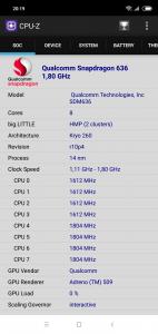 Informace o hardwaru - procesor