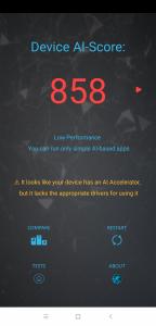 Výsledky Poco F1 v benchmarku AI Benchmark