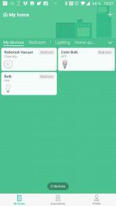 Vysavač lze ovládat z aplikace Mi Home