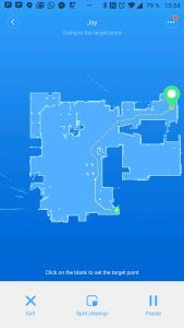 Vysavač s mapou lze poslat na určené místo