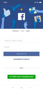 Druhý Facebook s jiným účtem
