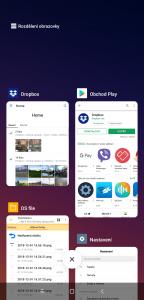 Seznam spuštěných aplikací