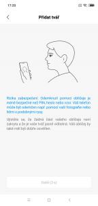 Telefon lze odemykat obličejem