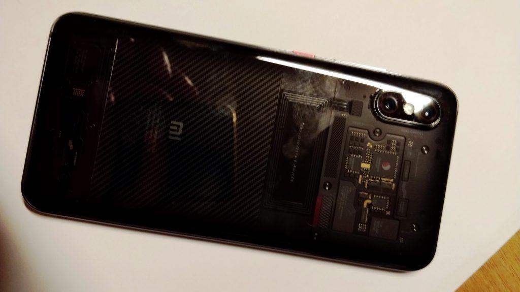 Zadní strana Xiaomi Mi 8 Pro