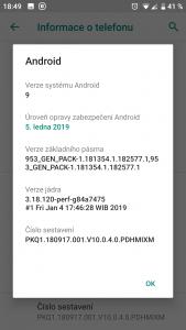 Xiaomi Mi A1 - sestavení 10.0.4.0