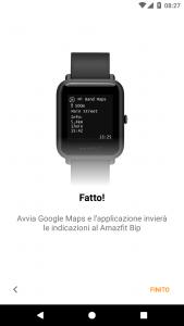 Zobrazení na hodinkách Amazfit Bip