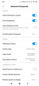 Možnosti nastavení videa