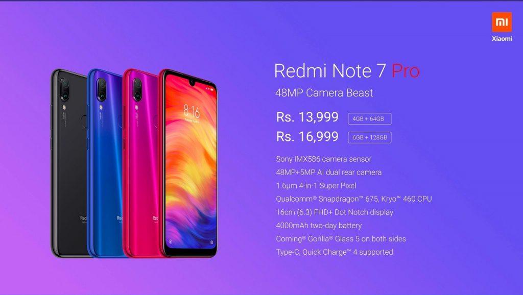 Ceny nového Redmi Note 7 Pro