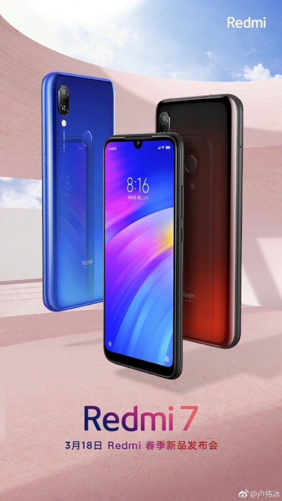 Levný telefon Redmi 7 bude představen příští týden