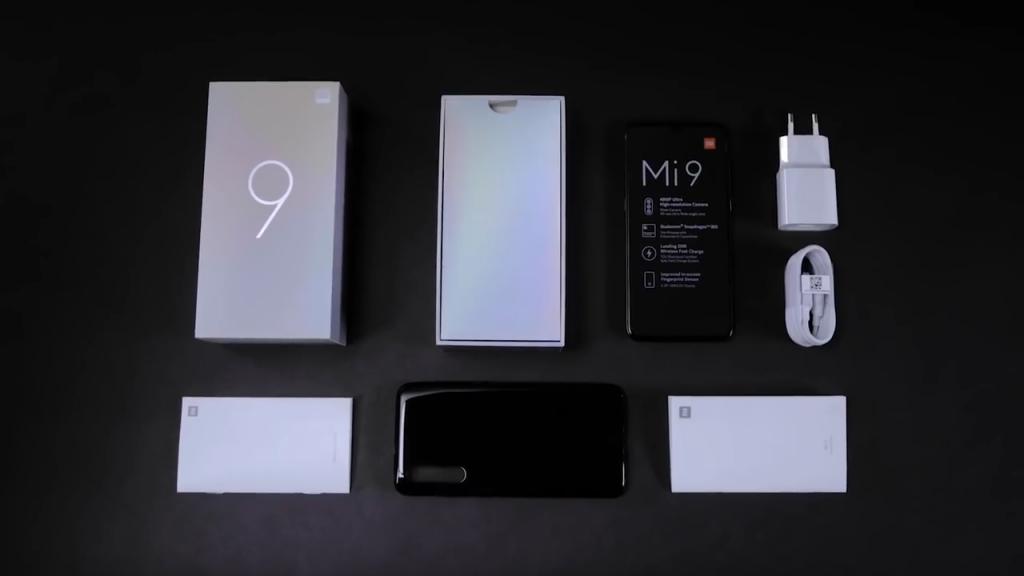 Obsah balení Xiaomi Mi 9