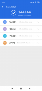 Výsledky v benchmarku AnTuTu