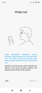 Funkce odemykání obličejem