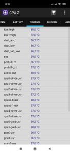 Informace o teplotách