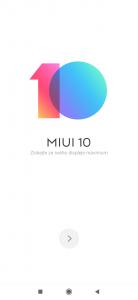 MIUI 10 - úvodní nastavení