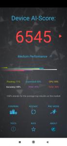 Výsledky AI Benchmark pro účely recenze Xiaomi Mi 9 SE