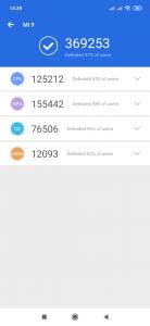 Výsledky Antutu v rámci recenze Xiaomi Mi 9