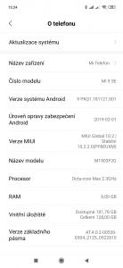 Xiaomi Mi 9 SE s MIUI 10.2.2.0(PFBEUXM)