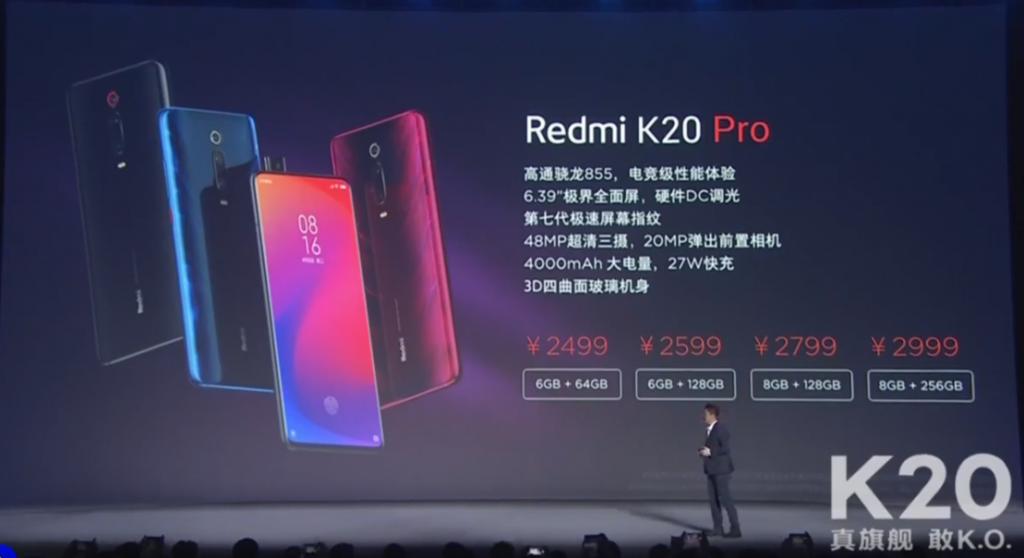 Ceny telefonu Redmi K20 Pro