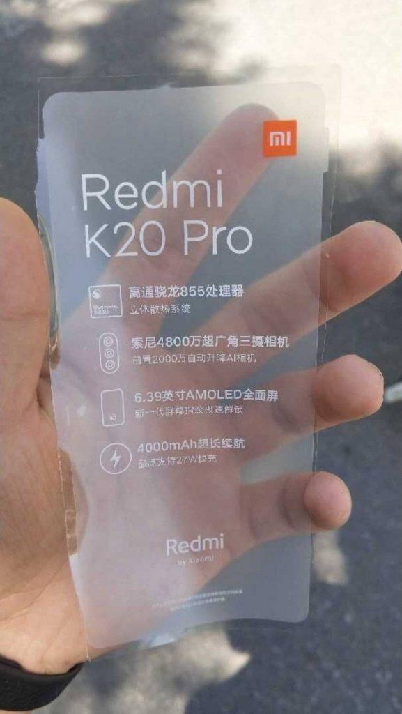 Chystá se i Redmi K20 Pro